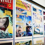 wall mounted comics