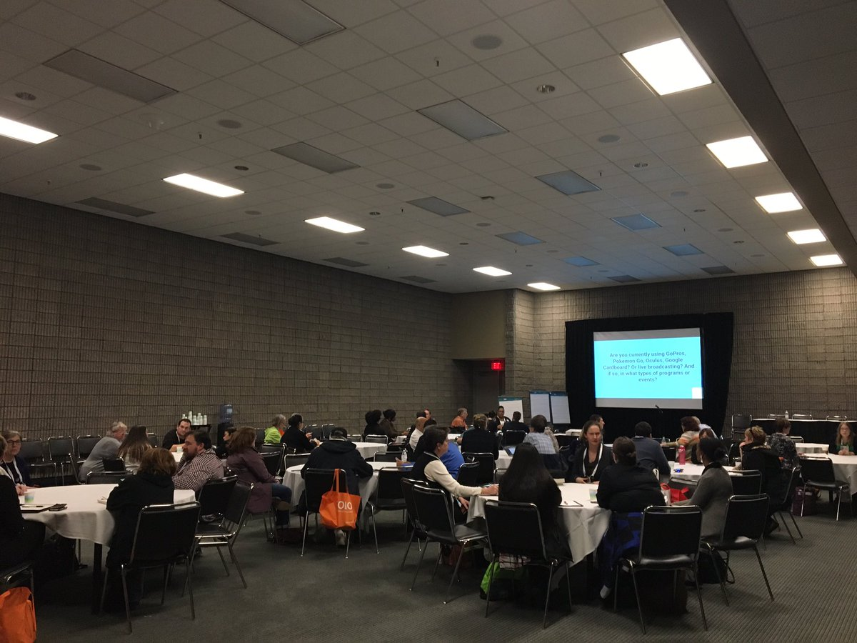 "Participants at ETS' Hot Topics Discussion, ""Now You See It - Video and Virtual Tech in Ref Services"" at ALA Midwinter 2017"