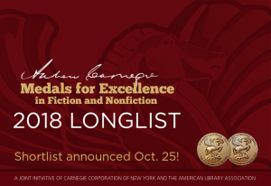 Carnegie longlist announcement with seals