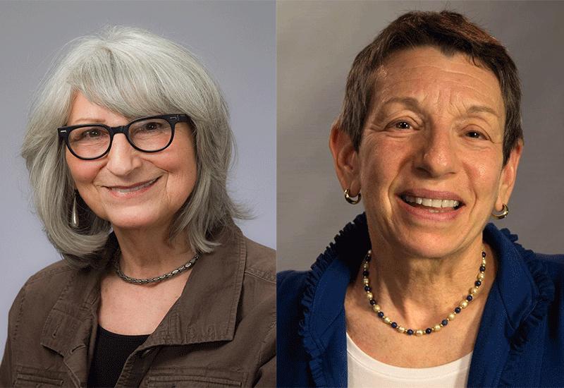 Eleanor Mitchell and Barbara Watstein, 2018 winners of the Isadore Gilbert Mudge Award