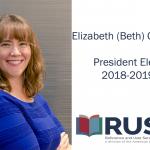 Elizabeth (Beth) German, President Elect, 2018-2019 RUSA