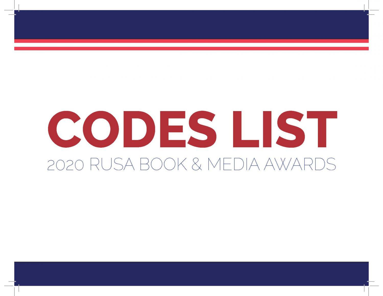 CODES List-Cookbooks